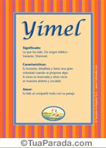 Origen y significado de Yimel