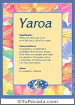Nombre Yaroa