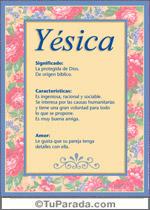 Nombre Yésica