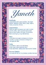 Nombre Yaneth