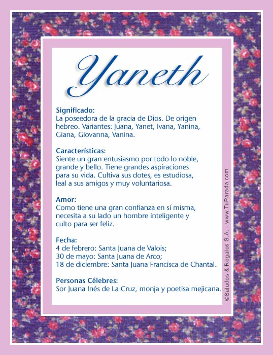 Yaneth, imagen de Yaneth