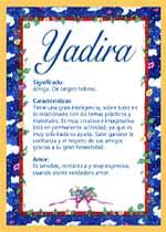 Nombre Yadira