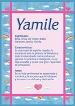 Origen y significado de Yamile