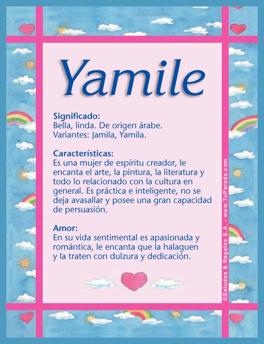Yamile, imagen de Yamile