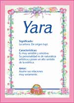 Nombre Yara