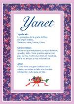 Origen y significado de Yanet