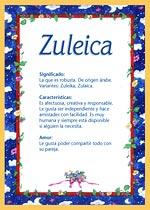 Nombre Zuleica
