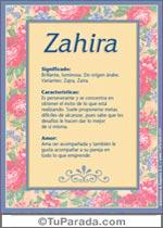 Nombre Zahira