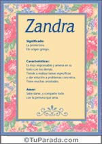 Nombre Zandra