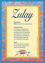 Nombre Zulay