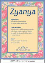 Nombre Zyanya