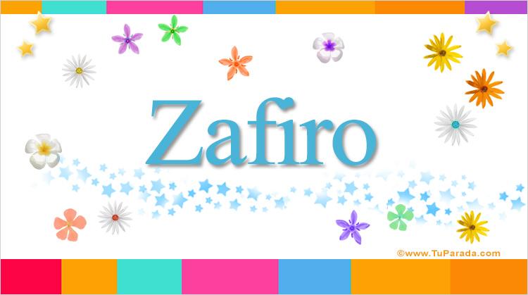 Zafiro, imagen de Zafiro