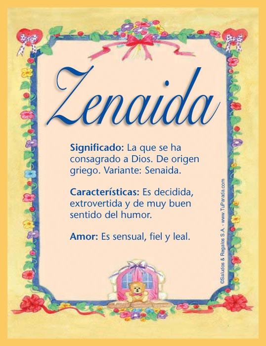 Zenaida, imagen de Zenaida