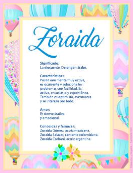 Nombre Zoraida