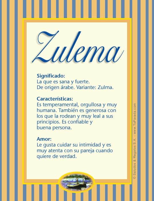 Zulema, imagen de Zulema