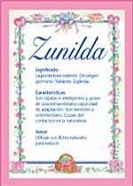 Origen y significado de Zunilda