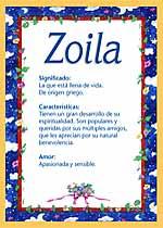 Origen y significado de Zoila