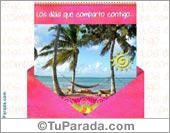 Sobres sorpresa - Tarjetas postales: Los días que comparto contigo...