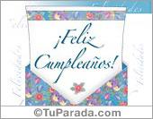 Sobres sorpresa - Tarjetas postales: Un gran abrazo para tu cumpleaños.
