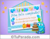 Sobres sorpresa - Tarjetas postales: Tarjeta de sobre sorpresa de cumpleaños