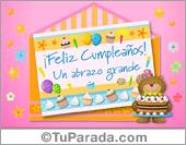 Tarjeta - Postal de cumpleaños con oso en sobre