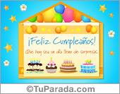 Tarjeta - Sobre virtual con tortas de cumpleaños
