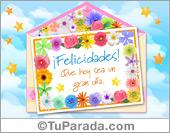 Tarjeta - Tarjeta de sobre de felicidades con florcitas