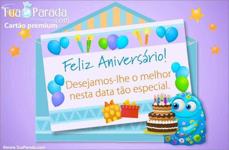 Cartão - Desejos de Feliz Aniversário