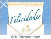Tarjeta - Felicidades