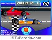 Tarjetas postales: Juego: Carrera de autos para principiantes