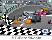 Tarjetas postales: Juego: Carrera de autos para expertos