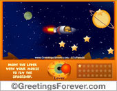 Greeting ecards: Space Game