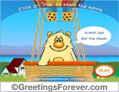 Greeting ecards: Game: Balloon trip