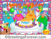 Greeting ecards: Game: Birthday party