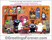 Greeting ecards: Castle Game