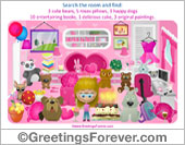 Greeting ecards: Game for girls