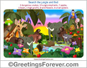 Greeting ecards: African Jungle Game