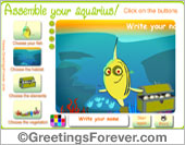 Greeting ecards: Assemble your aquarius!