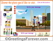 Greeting ecards: Choose the place youd like to visit