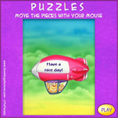 Greeting ecards: Have a nice day - Easy Puzzle: 9 pieces