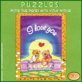 Greeting ecards: Love - Easy Puzzle: 8 pieces