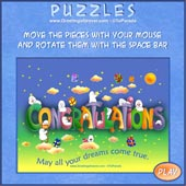 Greeting ecards: Congratulations - Easy Puzzle: 9 pieces