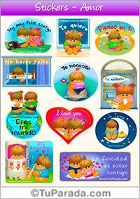 Stickers de amor