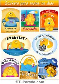 Stickers para todos los días