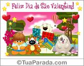 Cartões postais: Feliz dia de São Valentim!