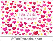 Cartões postais: Cartão de São Valentim