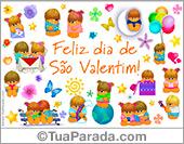 Cartões postais: Cartão de feliz São Valentim