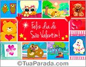 Cartões postais: Cartão do Valentim com imagens