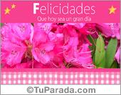 Tarjeta de flores rosas