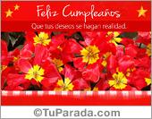 Modelos de flores - Tarjetas postales: Tarjeta de flores rojas